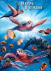 Turtles In Light - Hawaiian Happy Birthday Greeting Card