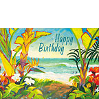 Time To Chill - Hawaiian Happy Birthday Greeting Card