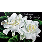 Two Gardenias - Personalized Greeting Card