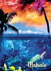 Hawaiian Dreams - Hawaiian Mahalo / Thank You Greeting Card