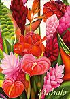 Tropicanna - Hawaiian Mahalo / Thank You Greeting Card
