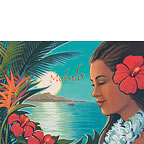 Aloha Moonrise - Personalized Greeting Card