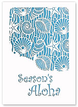 Season's Aloha Shells - Hawaiian Holiday Christmas Greeting Cards