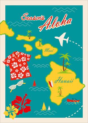 Season's Aloha Islands - Personalized Holiday Greeting Card