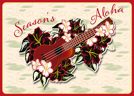 Holiday 'Ukulele - Personalized Holiday Greeting Card