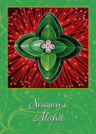 Ohia Lehua - Personalized Holiday Greeting Card