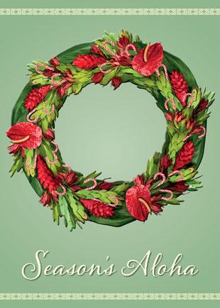 hawaiian holiday christmas greeting card - Christmas In Hawaiian
