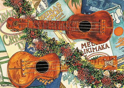 Joyous Sound of the Ukulele - Personalized Holiday Greeting Card