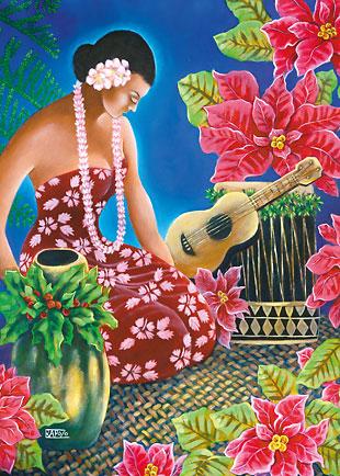 Holiday Hula - Personalized Holiday Greeting Card