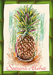 Holiday Pineapple - Hawaiian Holiday / Christmas Greeting Card