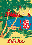 Season's Aloha 'Oe - Personalized Holiday Greeting Card