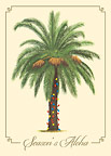 Season's Aloha Palm - Personalized Holiday Greeting Card