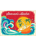 Tropical Holiday - Personalized Holiday Greeting Card