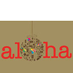 Holiday Aloha - Hawaiian Holiday / Christmas Greeting Card