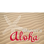 Season's Starfish - Hawaiian Holiday / Christmas Greeting Card