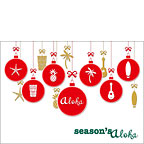 Season's Aloha Ornaments - Personalized Holiday Greeting Card