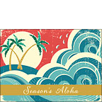 Aloha Holiday Wave - Personalized Holiday Greeting Card