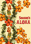 Hibiscus & Hula - Personalized Holiday Greeting Card