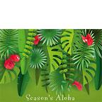 Tropical Holiday Leaves - Hawaiian Holiday / Christmas Greeting Card