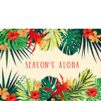 Tropical Holiday Flowers - Hawaiian Holiday / Christmas Greeting Card