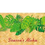 Hawaiian Holiday Leaves - Hawaiian Holiday / Christmas Greeting Card