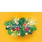 Hawaiian Holiday Glow - Hawaiian Holiday / Christmas Greeting Card