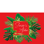 Hawaiian Holiday Palm Leaves - Season's Aloha - Hawaiian Holiday / Christmas Greeting Card