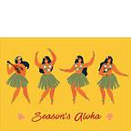 Holiday Hula Dancers - Hawaiian Holiday / Christmas Greeting Card