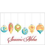 Tropical Christmas Ornaments - Hawaiian Holiday / Christmas Greeting Card