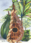Mele Pua (Flower Song) - Hawaiian Holiday / Christmas Greeting Card