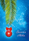 Hawaiian Christmas Ornament - Personalized Holiday Greeting Card