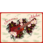 Holiday 'Ukulele - Hawaiian Holiday / Christmas Greeting Card