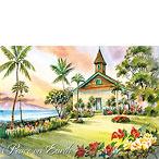 Keawalai Church - Hawaiian Holiday / Christmas Greeting Card