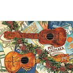 Joyous Sound of the Ukulele - Hawaiian Holiday / Christmas Greeting Card
