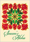 Hawaiian Holiday Quilt - Hawaiian Holiday / Christmas Greeting Card
