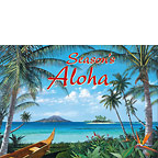 Tropic Travels - Personalized Holiday Greeting Card