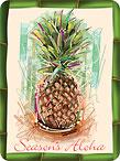 Holiday Pineapple - Hawaiian Holiday / Christmas Mini Greeting Card Set