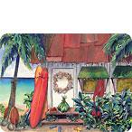 Holiday Surf - Hawaiian Holiday / Christmas Mini Greeting Card Set