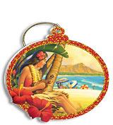 Hula Girl - Holiday Christmas Ornament