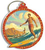 Duke Kahanamoku - Holiday Christmas Ornament