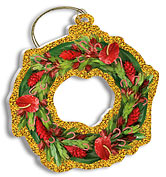 Tropical Holiday Wreath - Holiday Christmas Ornament