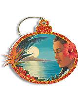 Aloha Moonrise - Holiday Christmas Ornament
