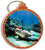 Turtle Santa - Holiday Christmas Ornament