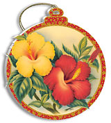 Hawaiian Hibiscus - Holiday Christmas Ornament