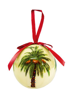 Season's Aloha Palm - Hawaiian Boxed Ball Christmas Ornaments