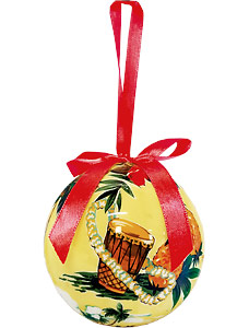 Holiday Island Scene - Hawaiian Boxed Ball Christmas Ornaments