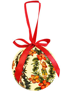 Hibiscus & Hula - Hawaiian Boxed Ball Christmas Ornaments