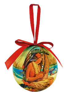 Island Holiday - Hawaiian Boxed Ball Christmas Ornaments