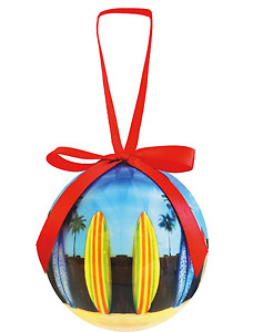 Starting Line Up - Hawaiian Boxed Ball Christmas Ornaments