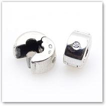 CZ Locking Clip - Charm Accesory